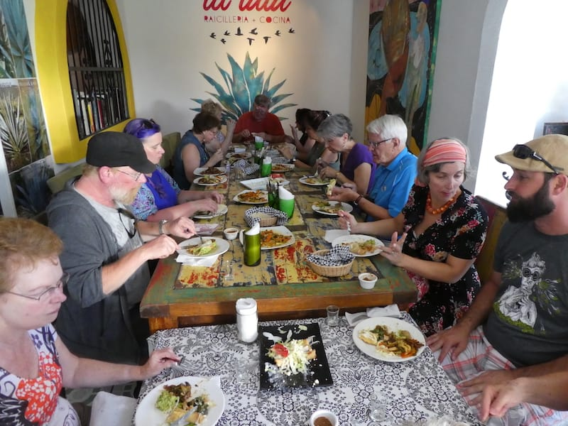 Eating authentic Mexican food in Puerto Vallarta