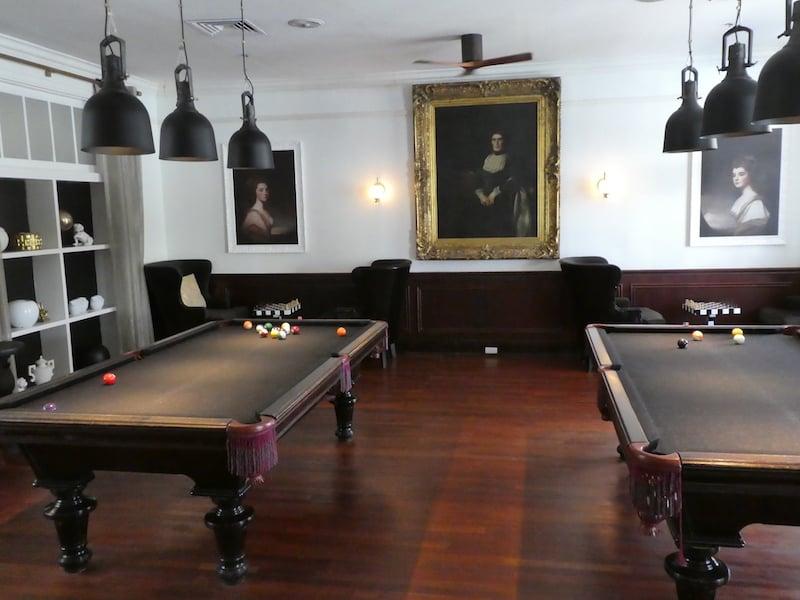 The Billiard Room at the Balmoral Club