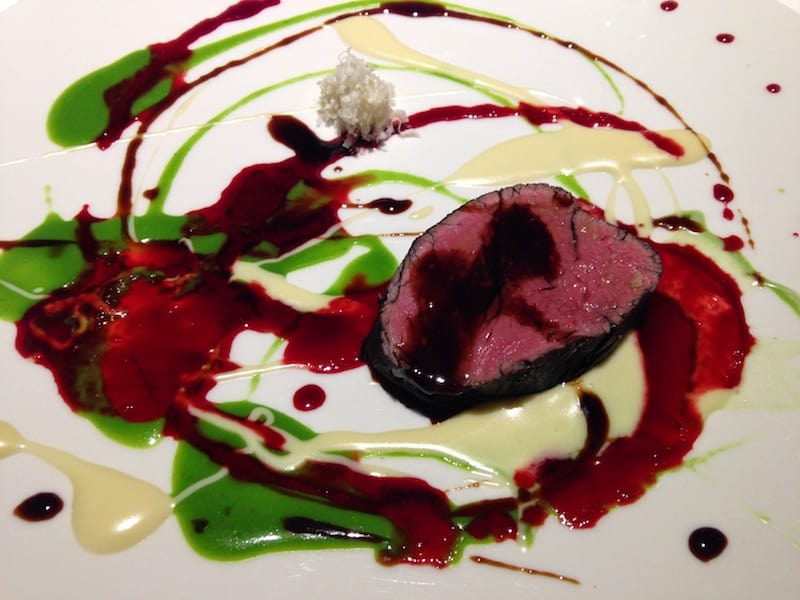 Psychedelic, spin-painted veal at Osteria Francescana in Modena (Credit: Jerome Levine)
