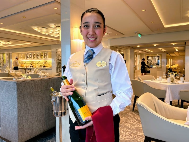 Polished and professional service in The Haven Restaurant