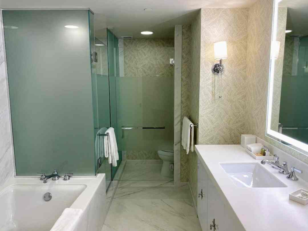 Our sparkling bathroom at the Beverly Hilton