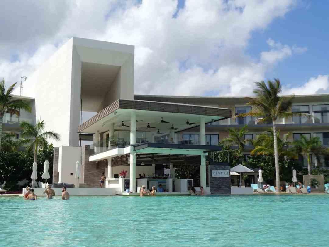 The impressive modern architecture at Haven Riviera Cancun