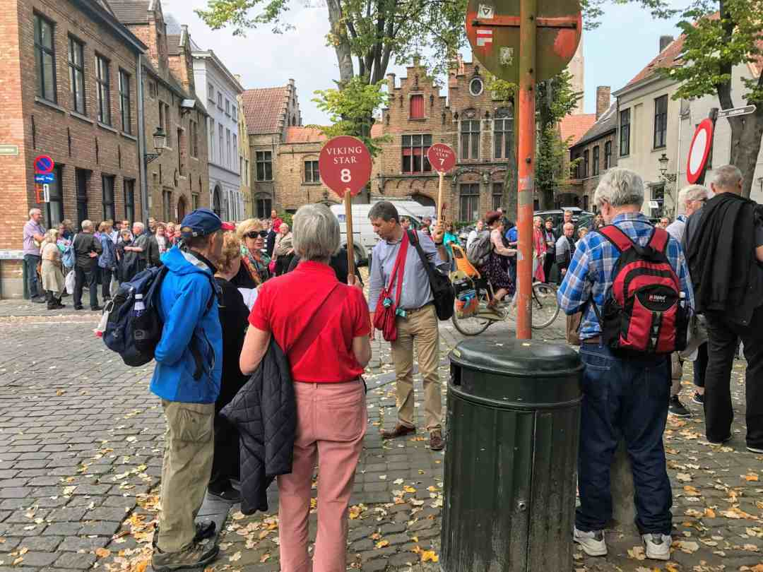 A pre-pandemic guided tours in Bruges