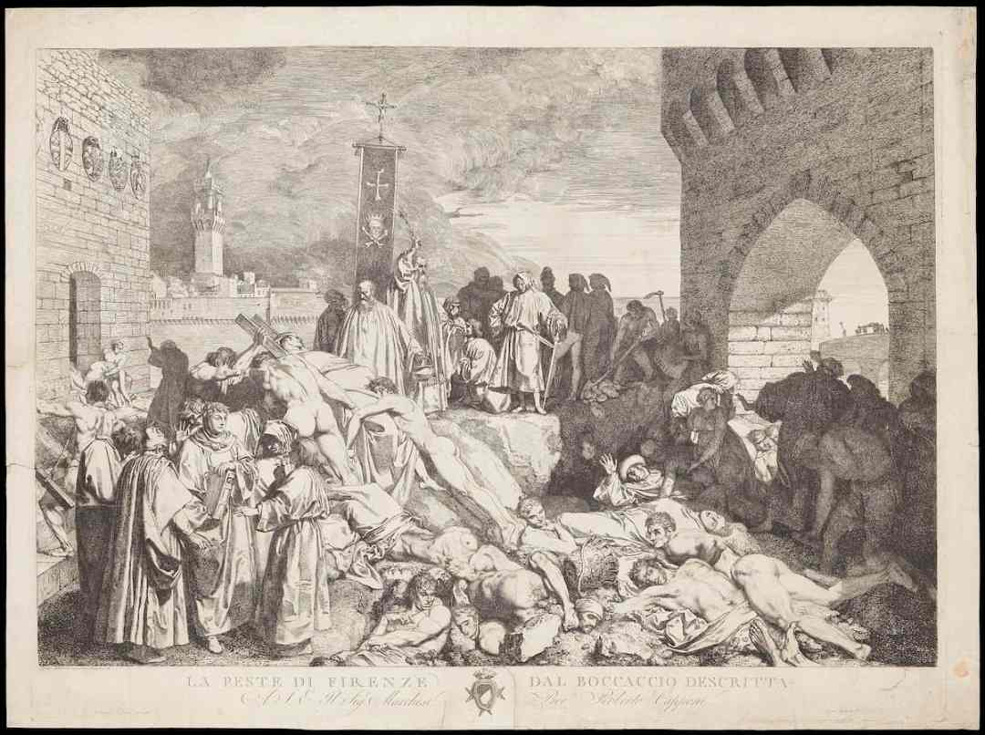 The plague of Florence in 1348 as described in Boccaccio's Decameron (Credit: Wikipedia/Wellcome)