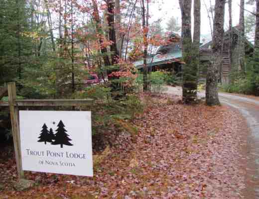 Entrance to Trout Point Lodge