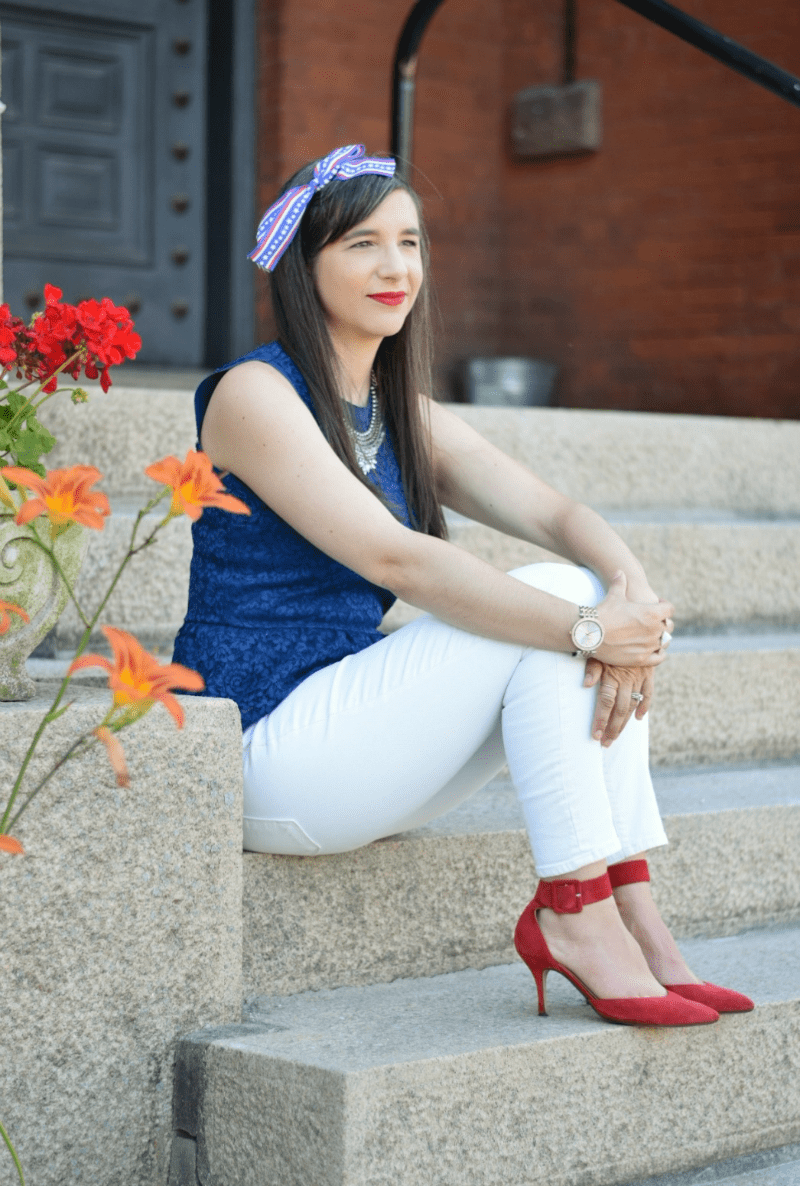 Fourth of July Patriotic Outfit Teacher Blogger