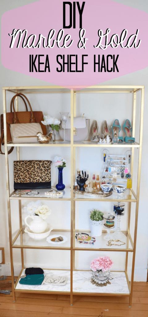DIY Ikea Hack Spray Paint Shelf