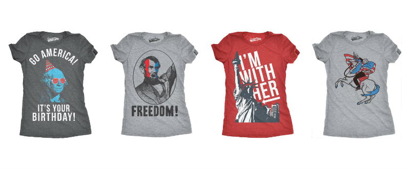 Nontraditional Patriotic Tees