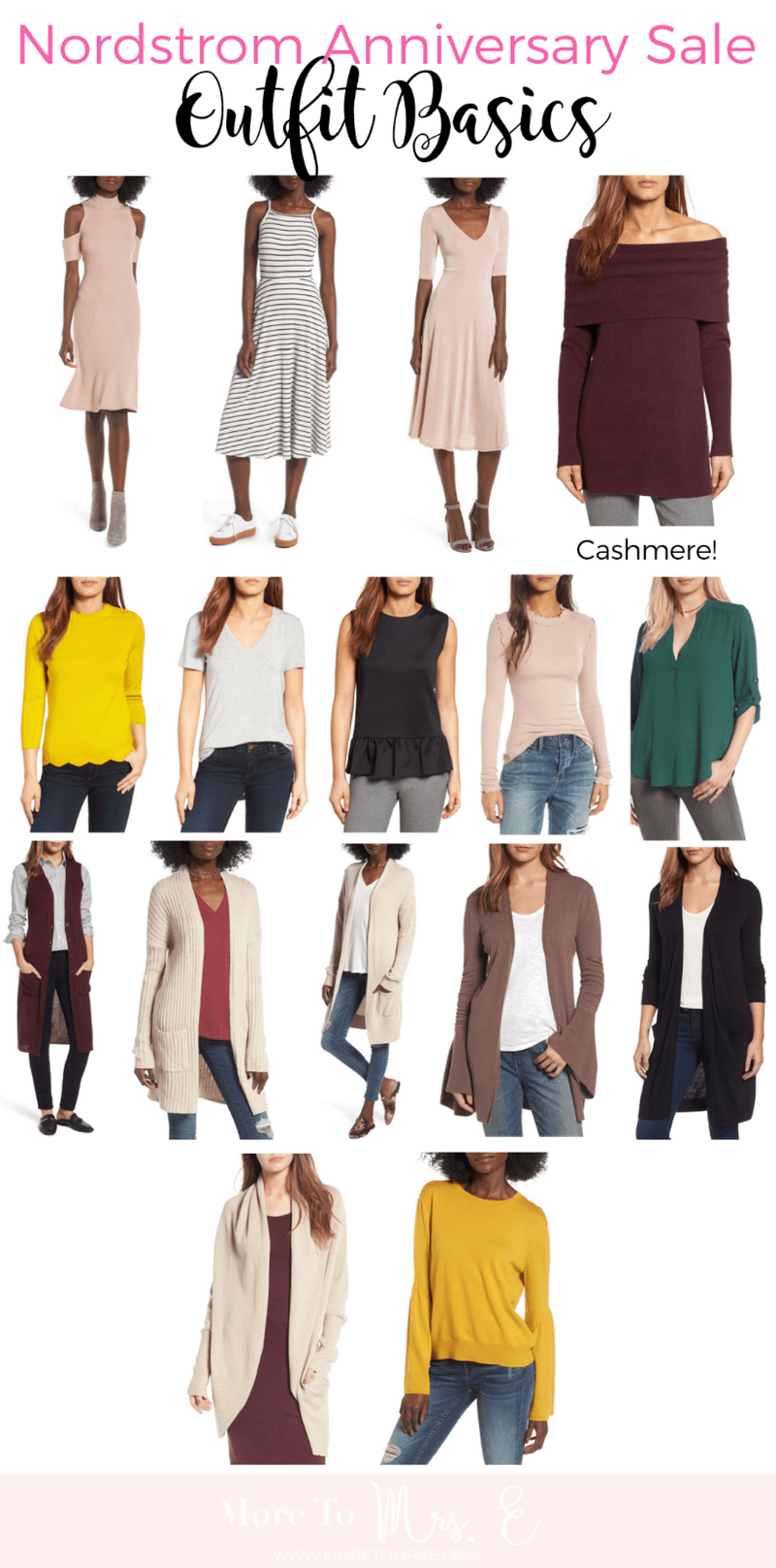 Nordstrom Anniversary Sale Deals_outfit basics_tshirt_cardigan_top_dresses_casual