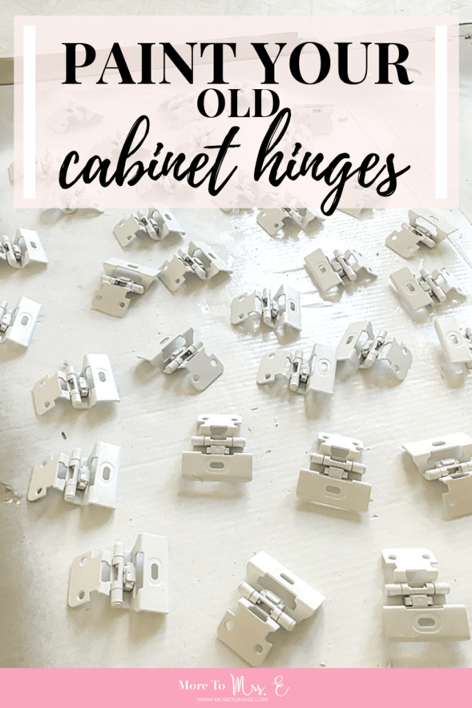 Paint And Reuse Old Cabinet Hinges, Painting Old Kitchen Cabinet Hardware