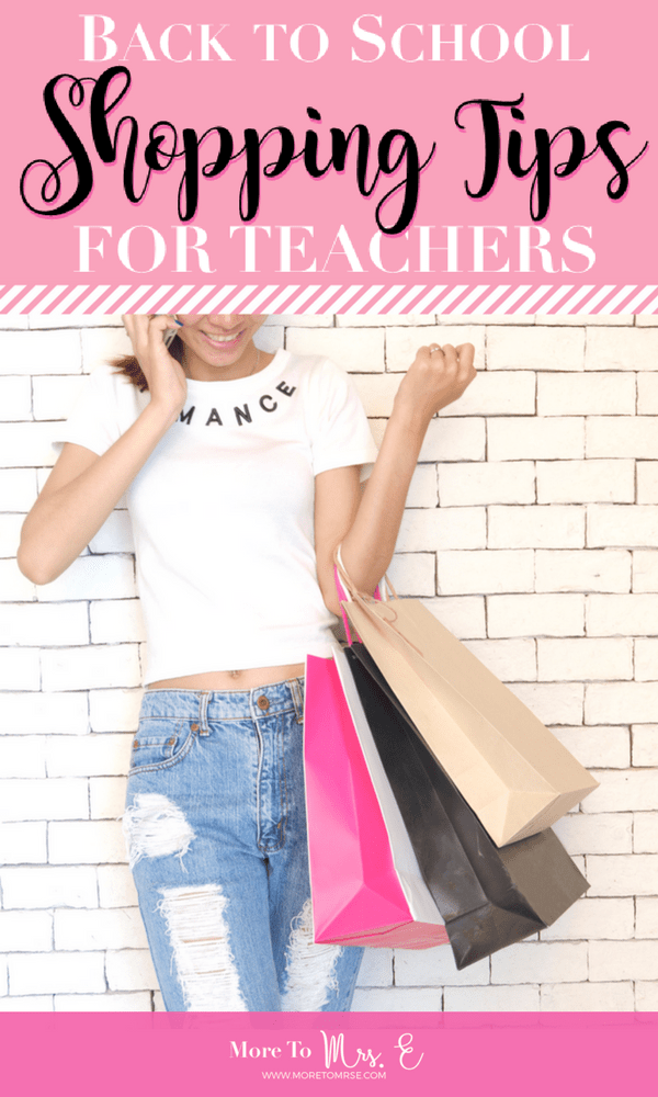 Pin it! Teacher Back to School Shopping Tips