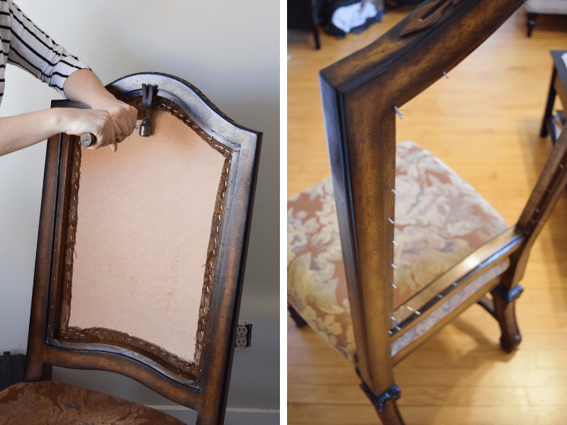 Reupholster Dining Room Chairs, How To Reupholster A Dining Room Chair Back