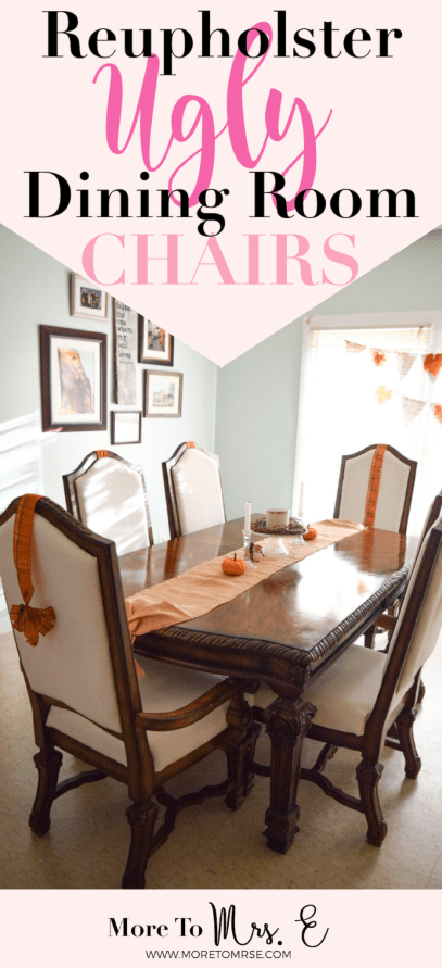 DIY Dining Chairs: Recover the Seat Cushion | More to Mrs. E