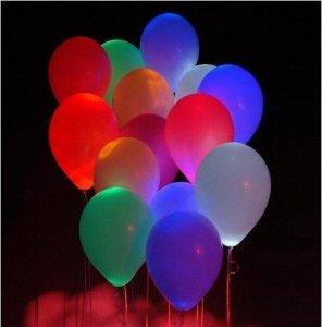 Glowing balloons