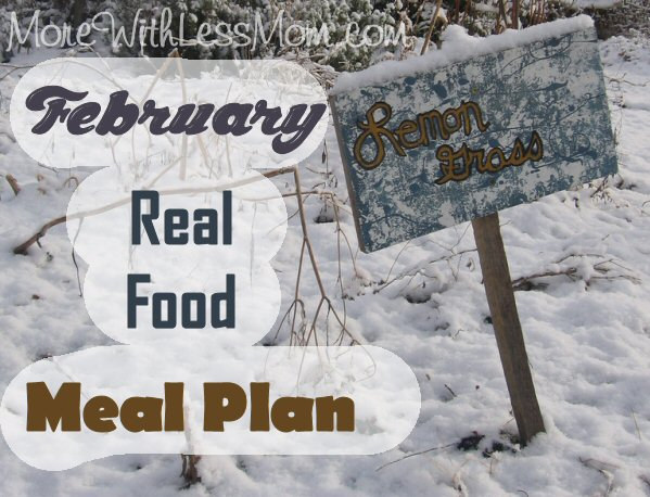 February Real Food Meal Plan