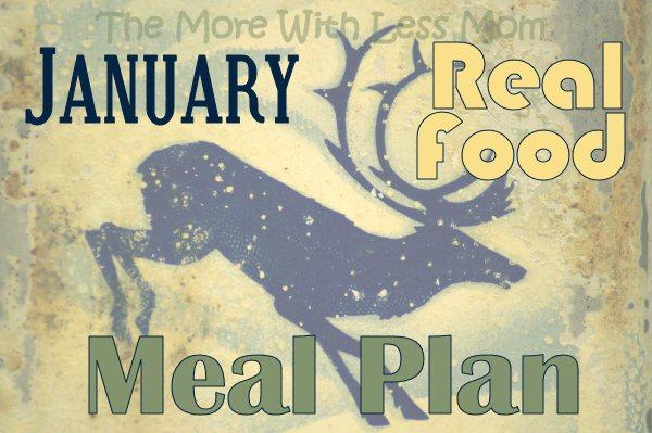 January Real Food Meal Plan