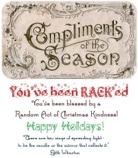 Random Acts of Christmas Kindness Printable Cards from The More With Less Mom