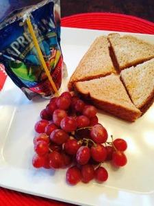 peanut butter sandwich and capri