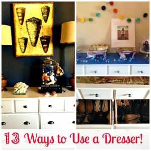 13 ways to use a dresser