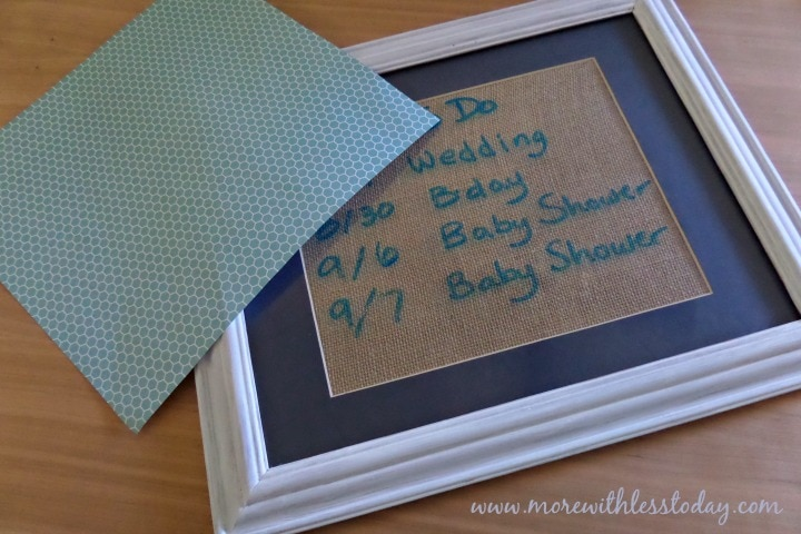 how to make a DIY Dry Erase Board