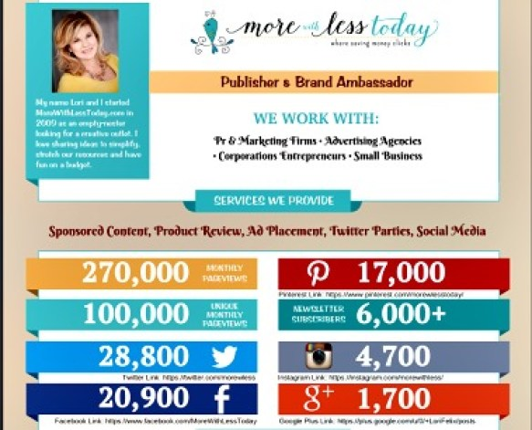 More With Less Today mid year 2016 media kit