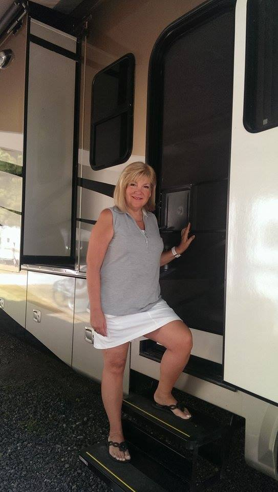 bonnie outside RV