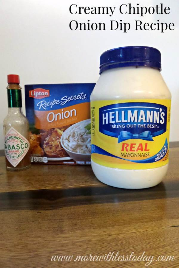 Creamy Chipotle Onion Dip Recipe Ingredients