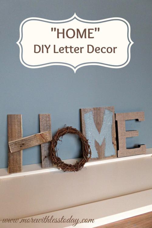 Home Decor DIY Letter Decor