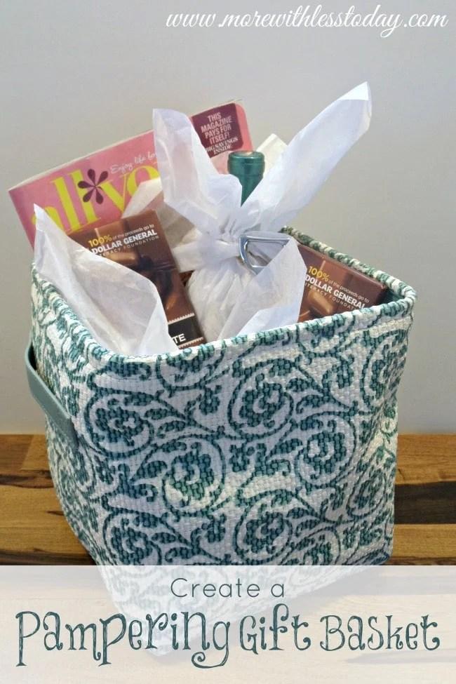 Pampering Gift Basket