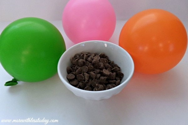 Chocolate Dessert Bowls that are edible, made with balloons