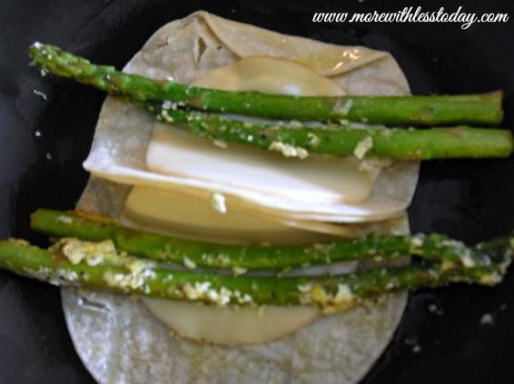 Gluten Free Asparagus Breakfast Quesadilla