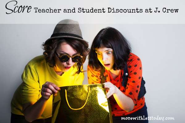 j crew teacher and student discounts