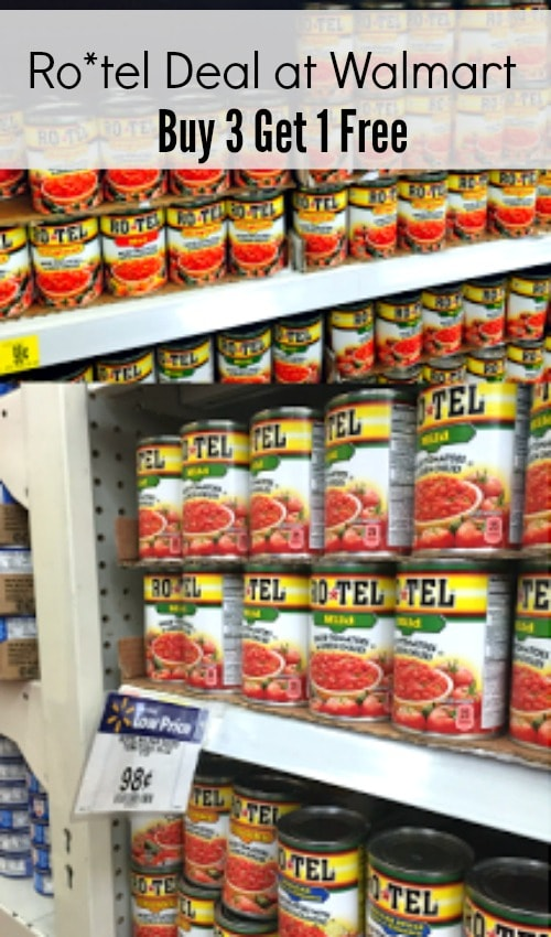Ro*tel deal at Walmart-buy 3 and get 1 free, recipes using Ro*tel, classic queso recipe, ways to stretch your food to feed a crowd, classic Mexican food