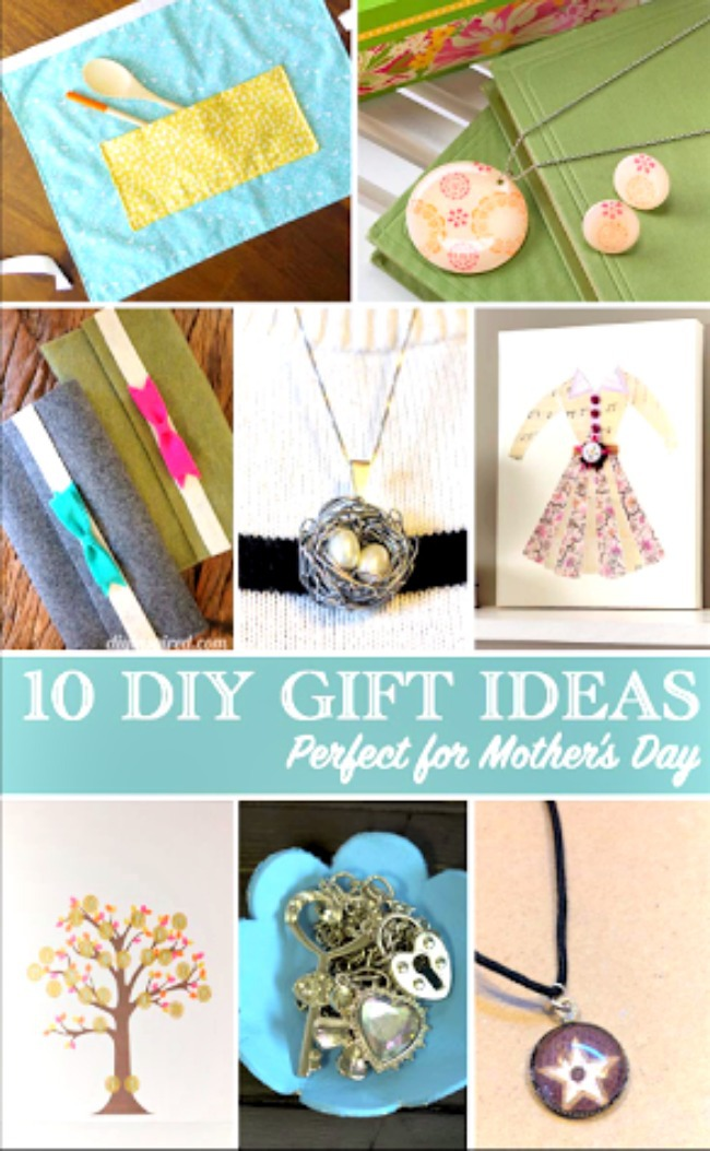 Mother's Day DIY gift ideas- handmade gifts for Mother's Day-make a necklace for Mother's Day-instructions for photo tiles with nail polish remover-mom gift