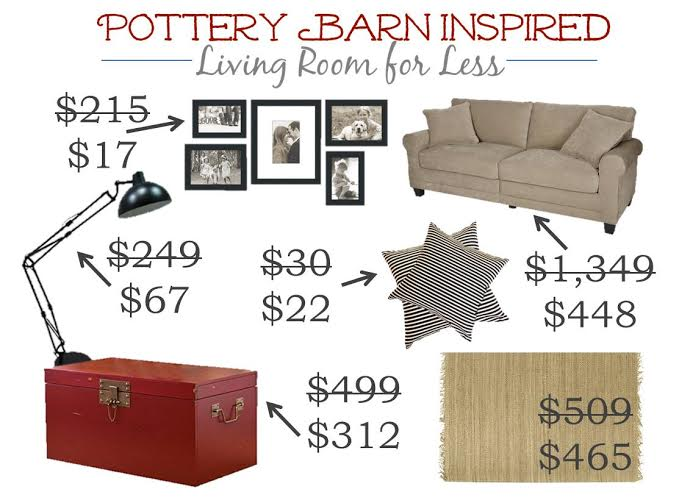 pottery barn for less red trunk room