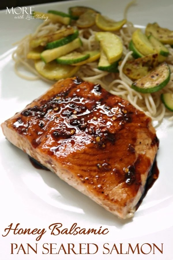 Everyone loves our Honey Balsamic Pan Seared Salmon recipe. It's is perfect for those with most food intolerance and everyone loves it.