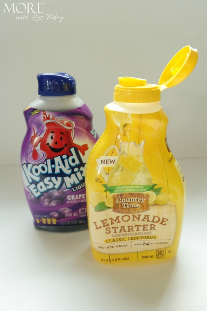 Country Time Lemonade Starter and Kool-Aid Easy Mix Liquid