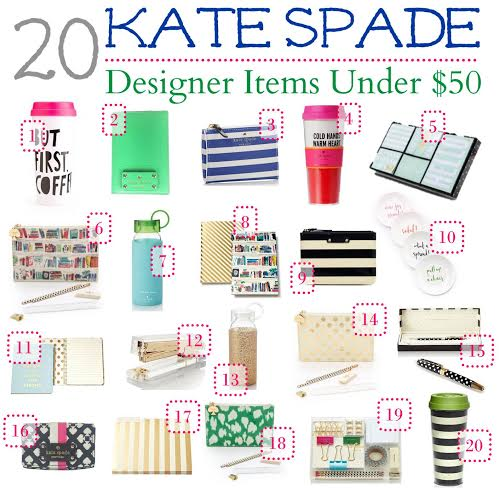 Are you a fan of Kate Spade? Her designer items make great gifts. We found 20 different affordable Kate Spade designer items for under $50.