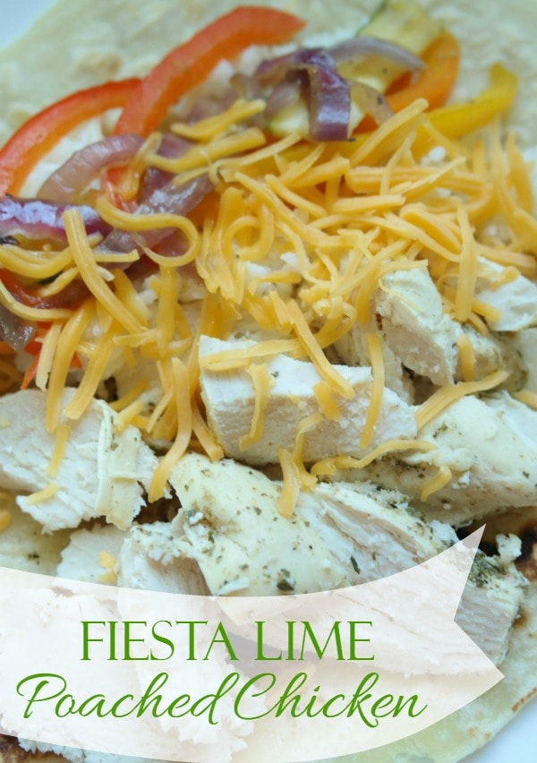 Fiesta Lime Poached Chicken - More With Less Today - Lime Juice Poached Chicken Recipe - Poached Chicken Breast Recipe - Easy Poached Chicken Breast