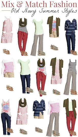 affordable Old Navy wardrobe with a few key pieces, put together many looks from Old Navy fashion on a budget, mix and match outfits from Old Navy