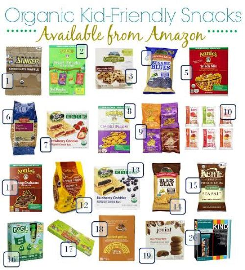 organic kid-friendly snacks, healthier snack options for kids, Amazon healthy food choices, buy organic food online, summer snacks for kids, healthy snacks