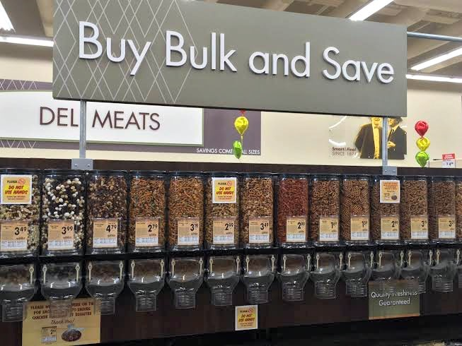 the bulk bins at smart & final