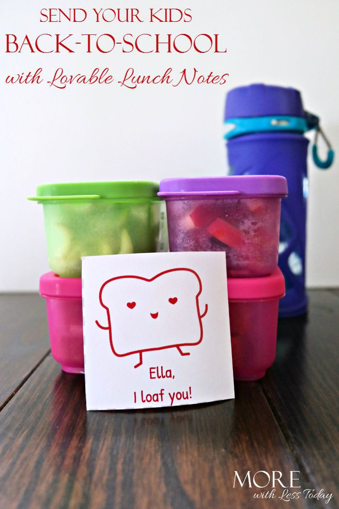 Lovable lunch notes, print our free love note templates for school lunches, Sara Lee Lovable Lunch Note templates, back to school ideas