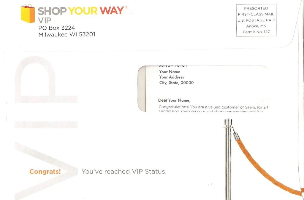 Shop Your Way VIP benefits