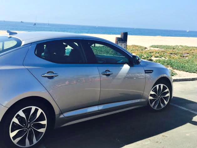 kia optima alone at the beach