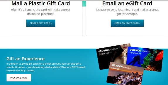 Give a Groupon gift card