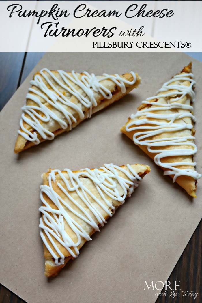 Pumpkin Cream Cheese Turnovers with Pillsbury Crescents