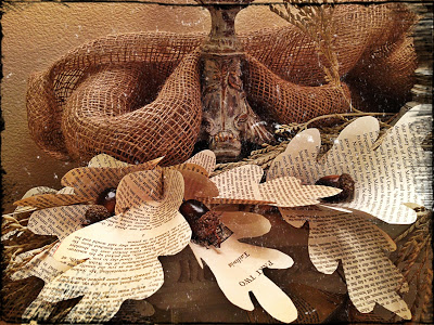 Fall Garland Decor Made from Book Pages