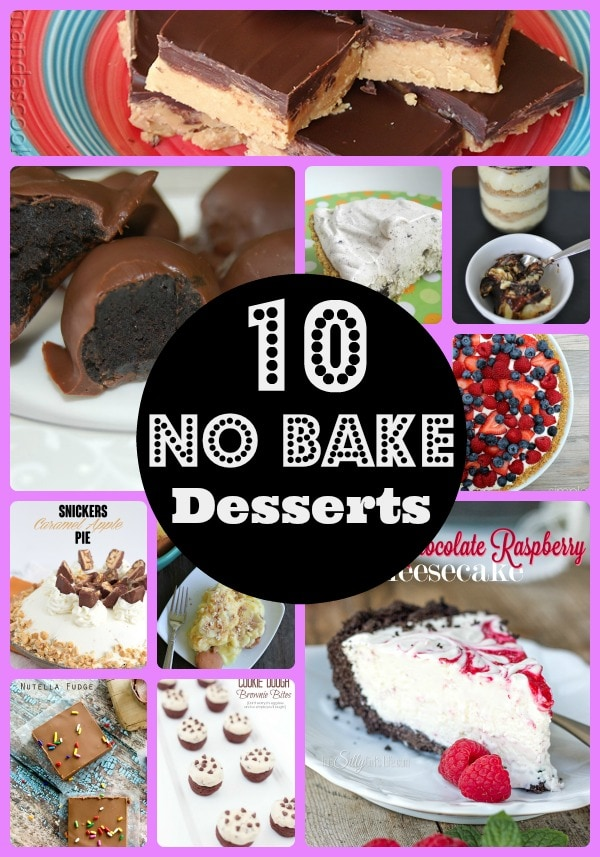 Do you love easy to make desserts? We are sharing 10 Easy No Bake Desserts that everyone will love. You won't need to turn on the oven!