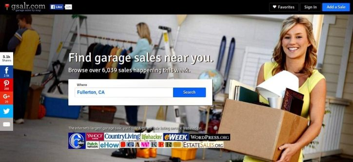 garage sales near me